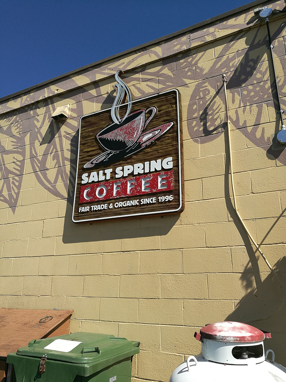 At the Salt Spring Coffee Company