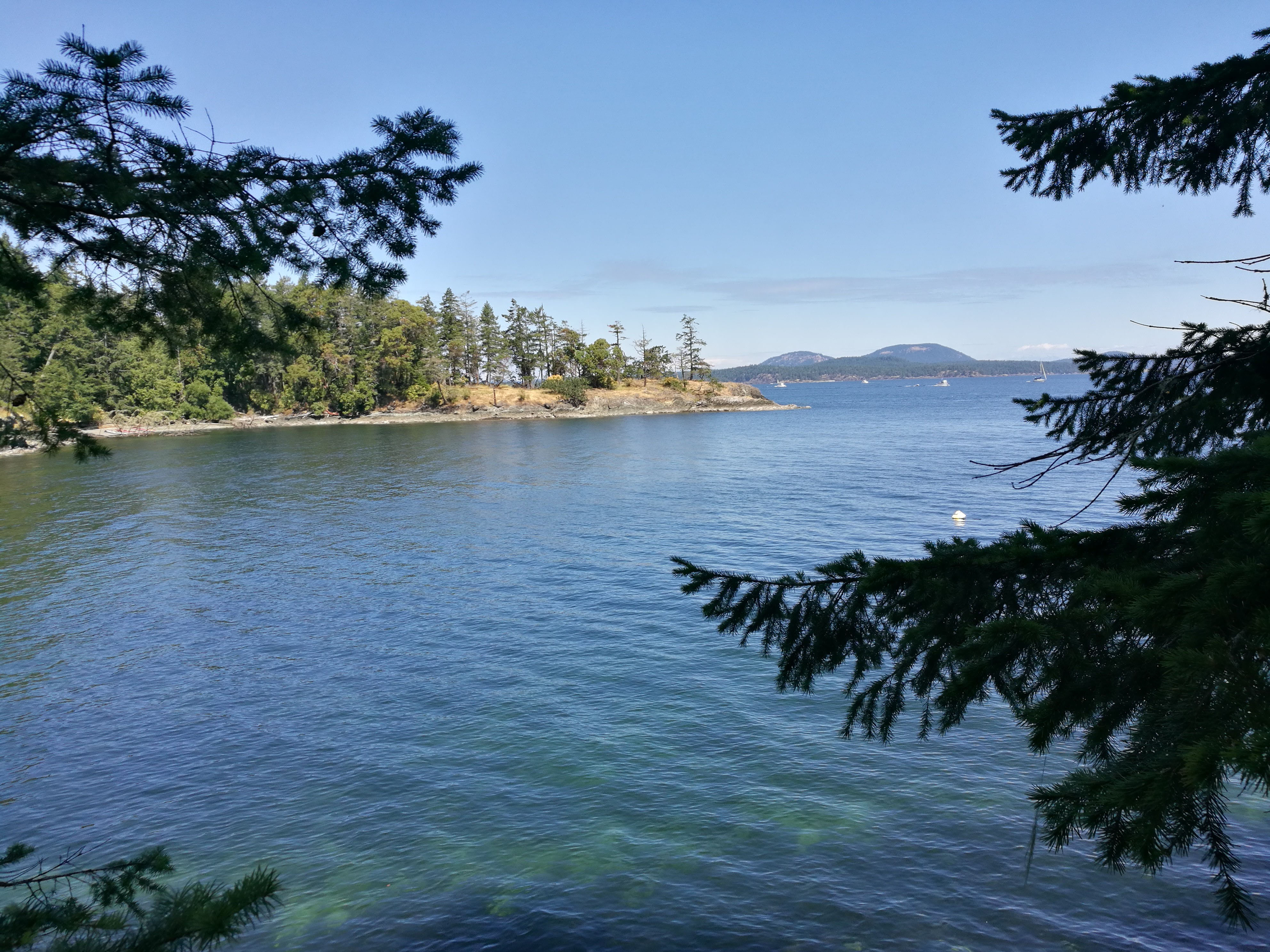 View from Ruckle Provincial Park water side
