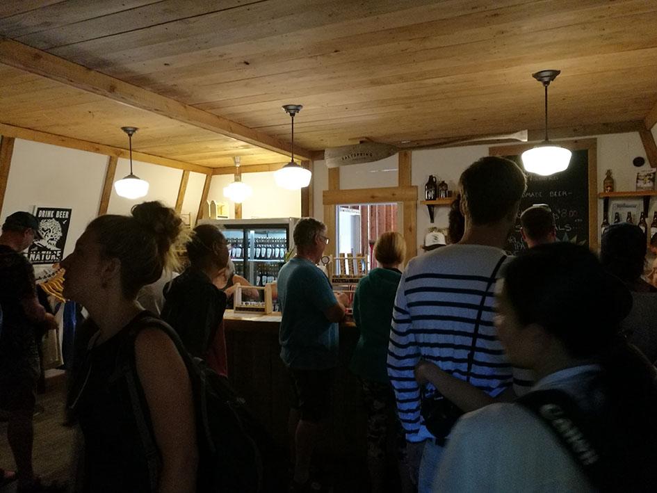 Inside Salt Spring Island Ales