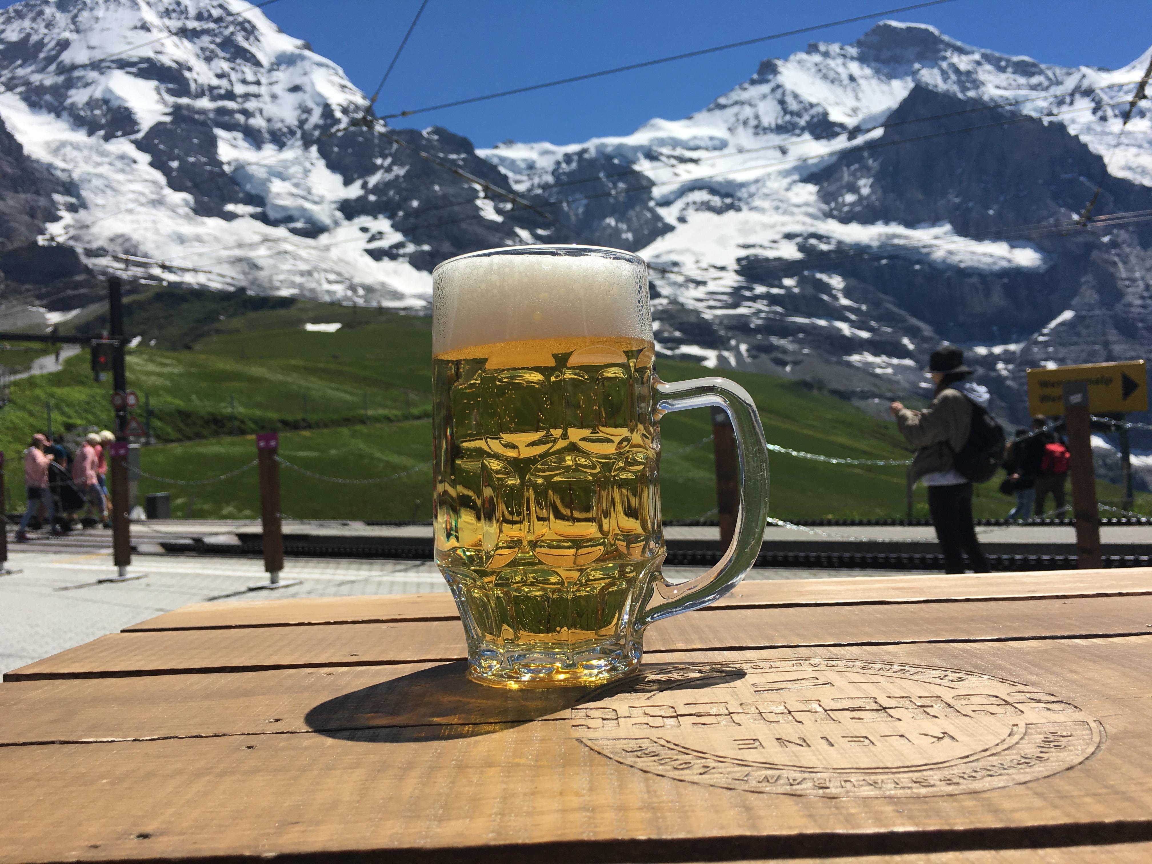 Beer from Kleine Scheidegg